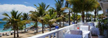 Overlooking the Beach from The Blue Lagoon Restaurant - Puerto Plata.