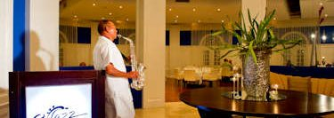 Saxophone player at Jazz Restaurant - Puerto Plata.